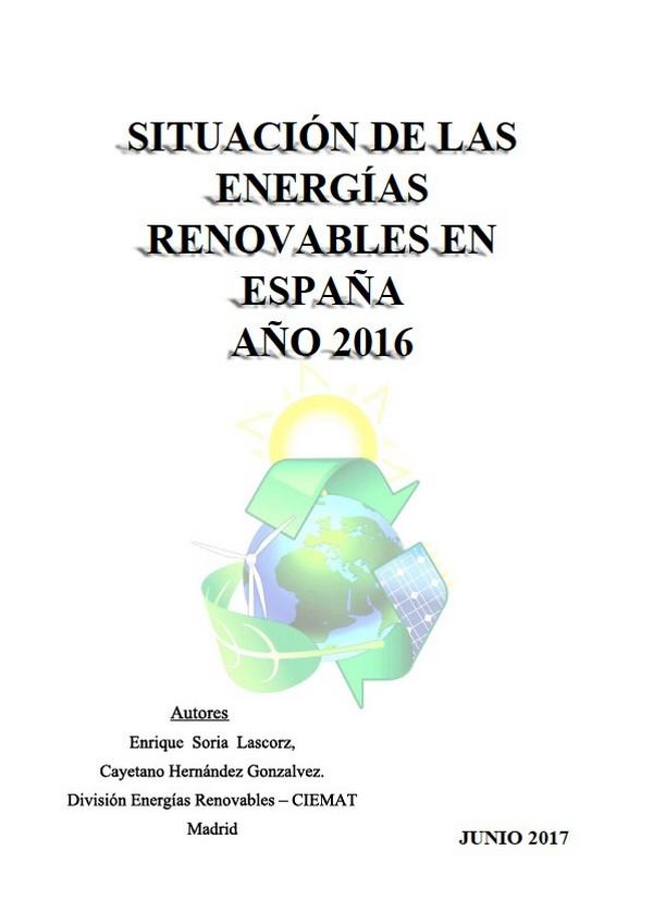 Documento de Análisis de la situación de las energías renovables en España 2016. Perspectivas a 2020
