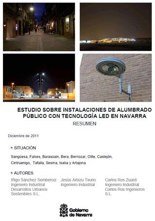 Documento de Estudio sobre instalaciones de alumbrado público ejecutadas con tecnología LED
