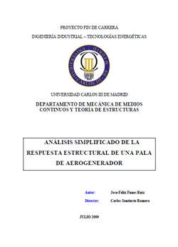 Documento de Respuesta Estructural Pala Aerogenerador