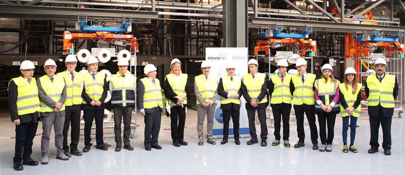 Brilén inaugura sus nuevas líneas de producción de hilo técnico de poliéster en su planta de Barbastro