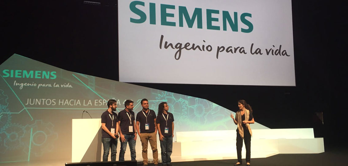 Siemens premia a la start up de 2 ingenieros españoles, Megavatio Control, por su ingenio y creatividad