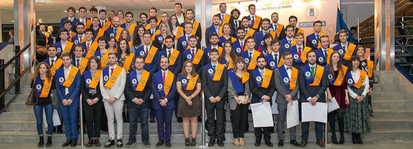 La ETSI de Telecomunicación de la Politécnica de Madrid entrega los diplomas a su última promoción de titulados