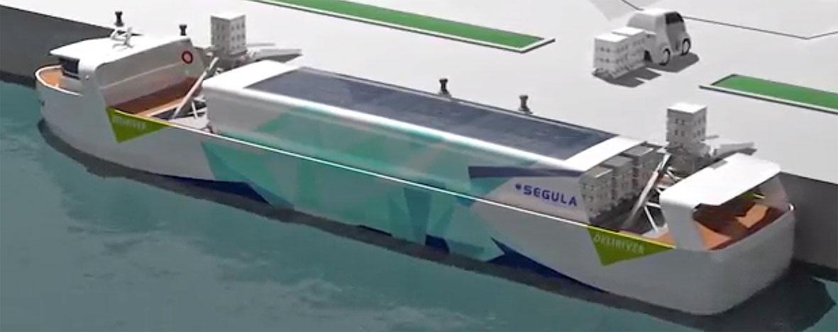 Segula Technologies presenta el Green Deliriver, un nuevo sistema de transporte marítimo que pretende revolucionar la distribución de última milla