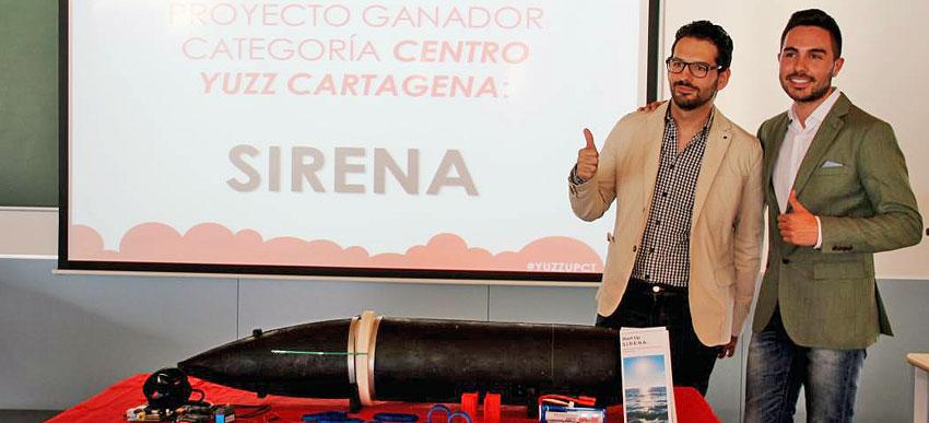 El proyecto del submarino autónomo de inspección portuaria de la UPCT obtiene plaza para su presentación en Silicon Valley