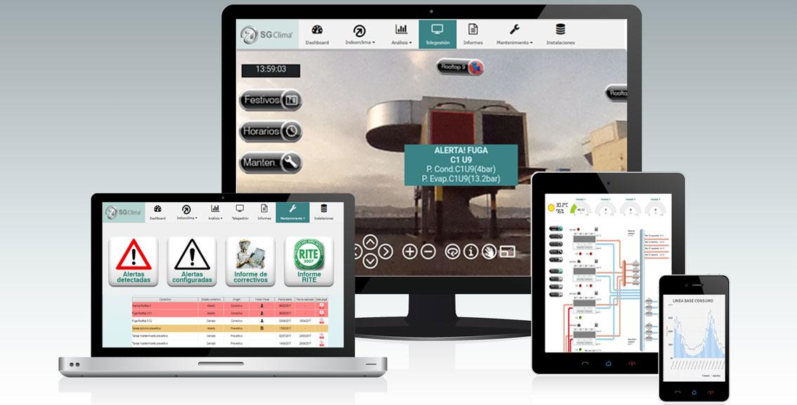 Mantenimiento Virtual de instalaciones de climatización. Sistema SGClima