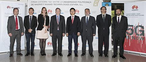 La UPM y Huawei presentan la primera Cátedra de 5G en España