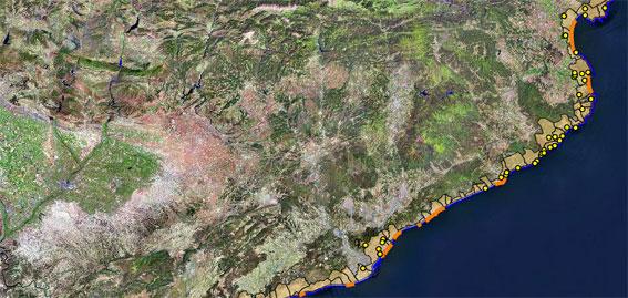 Un prototipo de sistema de alerta costero predice daños por temporales en el litoral catalán con ocho días de antelación