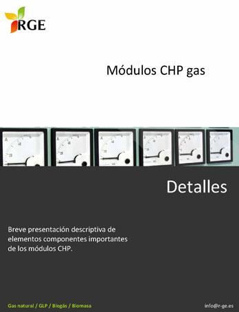 Catalogo de RGE. Módulos CHP gas