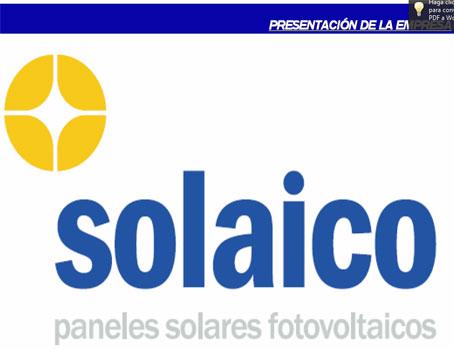 Catalogo de Solaico