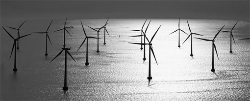Redes malladas para un optimo aprovechamiento de los recursos eólicos marinos y terrestres