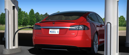 Red Supercharger para los vehiculos eléctricos de Tesla