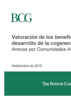Documento de La cogeneración por comunidades autónomas