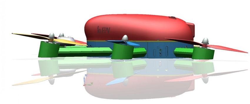 Crean el primer dron para alta competición diseñado y construido con impresión 3D en España