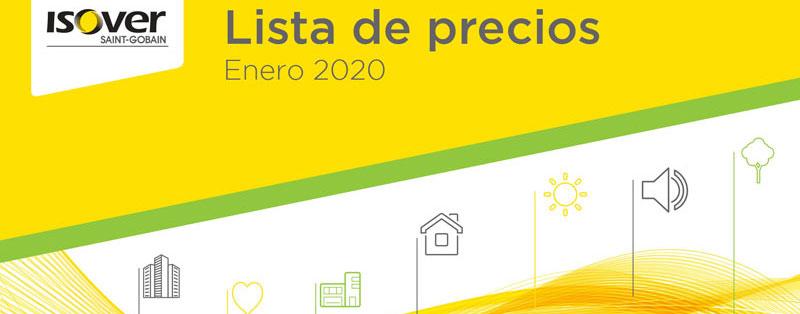 ISOVER presenta su Catalogo y Preciario 2020