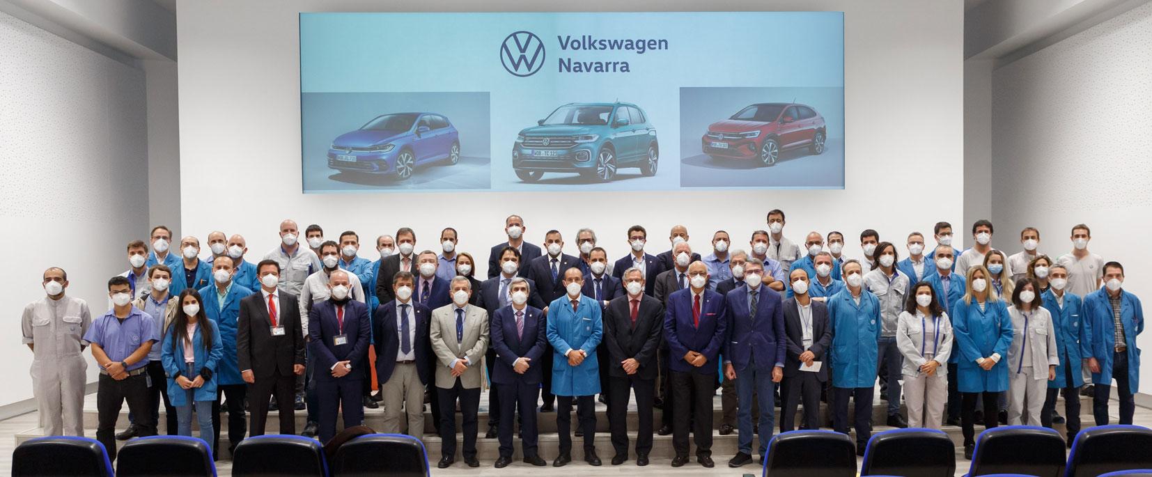 Los máximos responsables de la ingeniería industrial de España y Portugal visitan Volkswagen Navarra