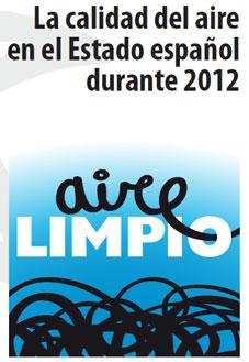 Documento de Calidad del aire en el Estado español durante 2012