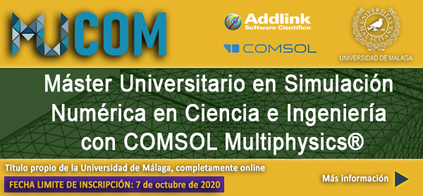WWW - Máster universitario en simulación numérica en ciencia e ingeniería con COMSOL Multiphysics (2020-2021)