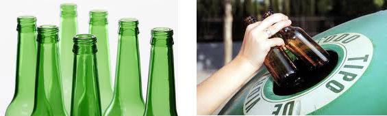 ¿Cuánto vidrio reciclado puede contener una botella?