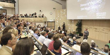 Los experimentos del CERN observan una partícula compatible con el tan buscado bosón de Higgs