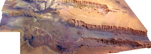 Valles Marineris, el mayor cañón del Sistema Solar