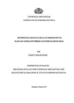 Documento de Factibilidad Planta Generacion Hibrida con EERR