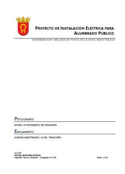Documento de Instalación Eléctrica Alumbrado