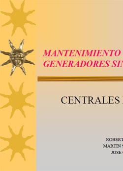 Documento de Mantenimiento generadores sincronos