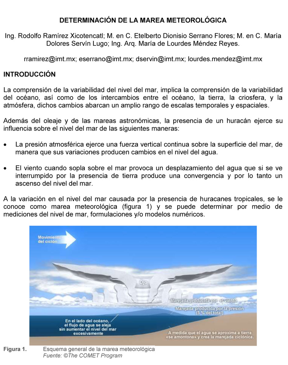 Documento de Determinación de la marea meteorológica