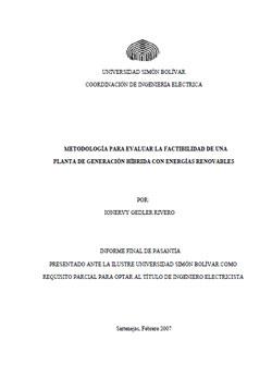 Documento de Metodologia Vabilidad Planta Generacion Hibrida