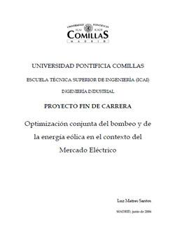 Documento de Optimización Bombeo y Eólica