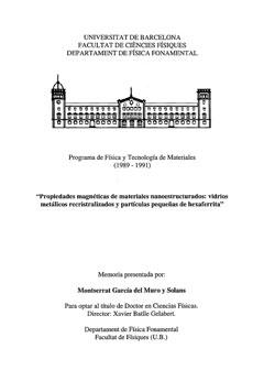 Documento de Propiedades magneticas de materiales nanoestructurados