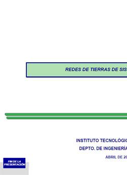 Documento de Redes de tierra en Subestaciones