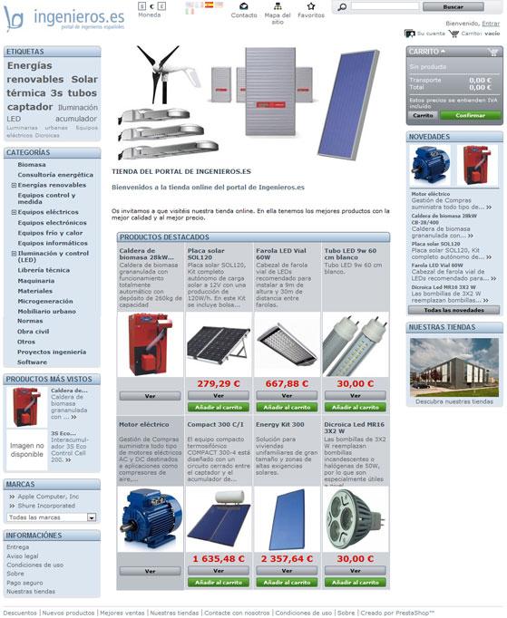 Imagen de la Tienda virtual